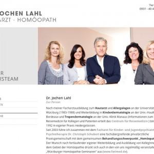 Dr. Jochen Lahl Hautarzt Homöopath http://www.jolahl.de, Webdesign: Ralph Knieling, Blauberg GmbH – Agentur für Kommunikation-Webdesign www.blauberg.de